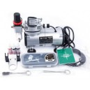 AIRBRUSH  SET met Compressor ,Verfspuit en toebeh.AS-18-2K